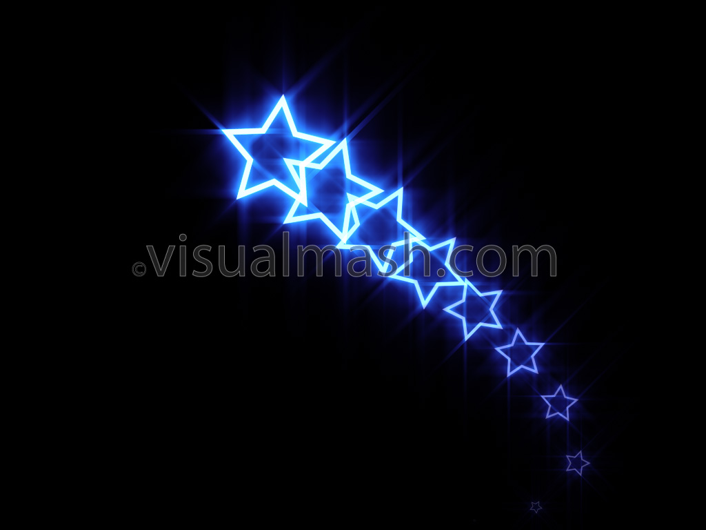 Neon Star 70s Disco Trails Follow 1 Blue Loop View Full Size Frame