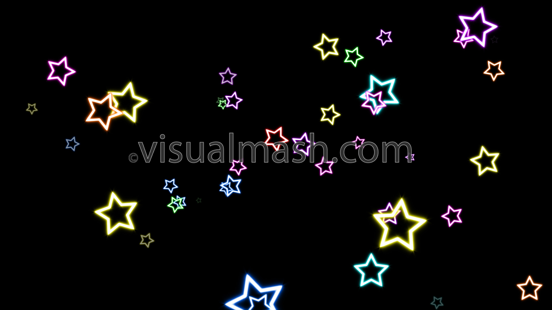 Neon Star 70s Disco Magic 1 Multicolour View Full Size Frame
