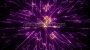 Cosmic Space Flower Line Warp 1 Purple-Orange