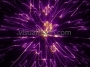 Cosmic Space Flower Line Warp 1 Purple-Orange