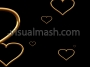 Gold Love Hearts Flying Out The Screen 1