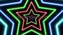 Neon Star 70's Disco Star Tunnel 1 Multicolour Loop