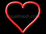 Love Heart Valentine Outline Draw