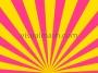 Retro Psychedelic Sun Rays Multi Colour 1