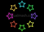 Retro Stars Ring Outline 1 Multi Colour 1