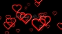 Love Rush Hearts Valentines Video Backdrop Loop Multi Outline 1