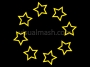 Retro Stars Ring Outline 1 Colour Change