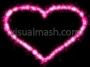 Sparkling Love Heart Pink Basic 1 Loop