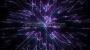 Cosmic Space Flower Line Warp 1 Purple-Blue