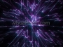 Cosmic Space Flower Line Warp 1 Purple-Blue