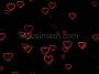 Love Hearts Valentines Video Backdrop Loop Multi Outline 1