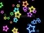 Neon Star 70's Disco Star Magic 1 Multicolour