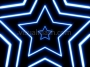 Neon Star 70's Disco Star Tunnel 1 Blue Loop