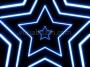 Neon Star 70's Disco Star Tunnel 1 Blue Loop