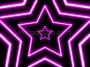 Neon Star 70's Disco Star Tunnel 1 Magenta Loop