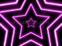 Neon Star 70's Disco Star Tunnel 1 Magenta Loop