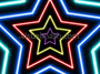 Neon Star 70's Disco Star Tunnel 1 Multicolour Loop