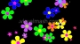 Retro Flowers 1 - Flower Power - Multi Colour