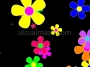 Retro Flowers 2 - Flower Power - Multi Colour