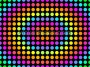 Retro Psychedelic Grid Dots Multi Colour Wave Out 1