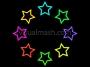 Retro Stars Ring Outline 1 Multi Colour 1