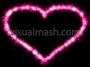 Sparkling Love Heart Pink Basic 1 Loop